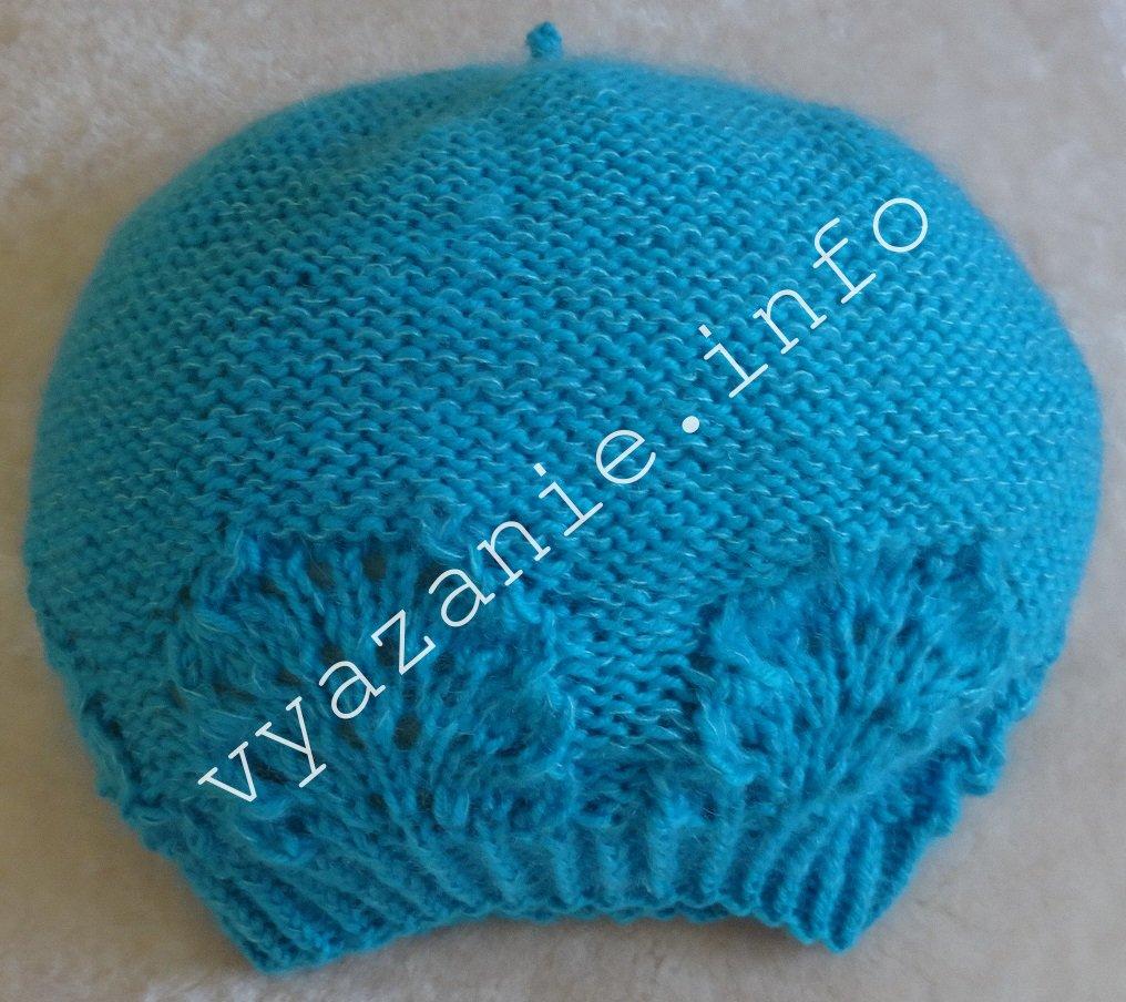 шапка спица