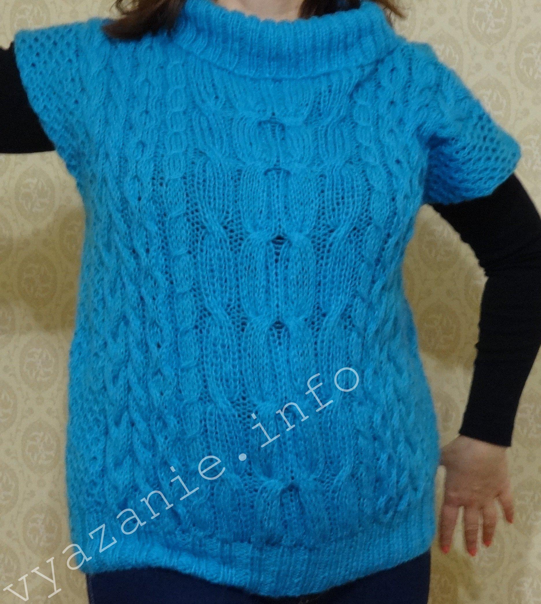 Как вязать свитер спицами. Вязаный свитер.