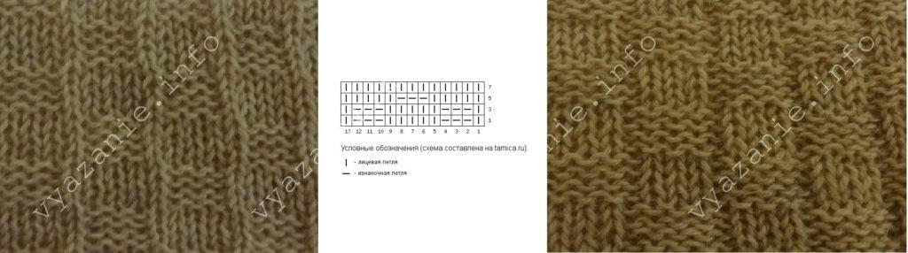 узоры спицами схемы и описание