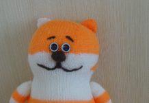 игрушка кот спицами