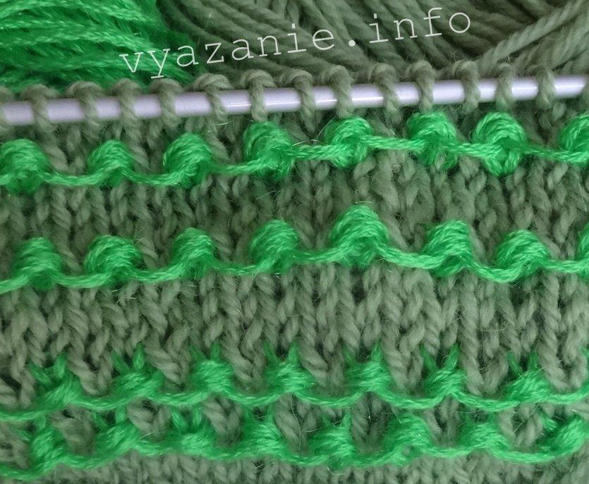 узоры спицами узелки