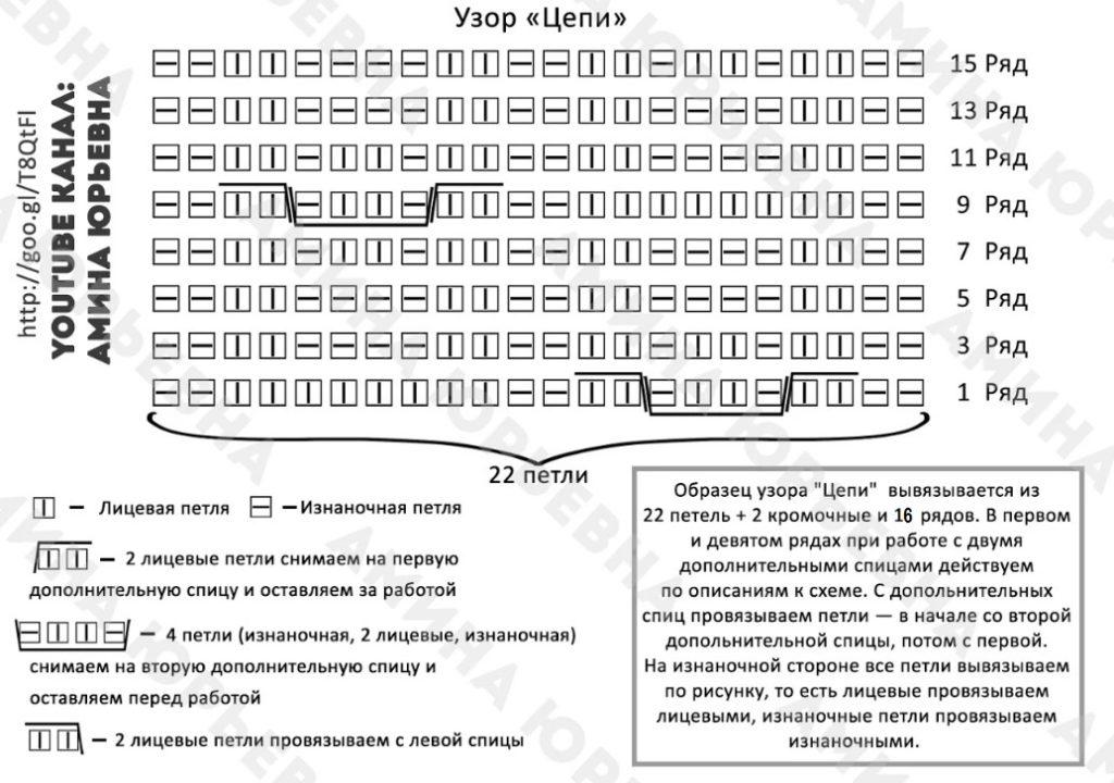 вязание спица схема