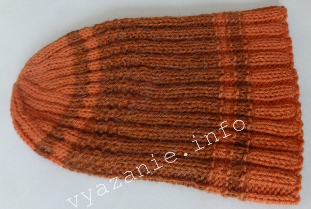 зимняя шапка резинкой