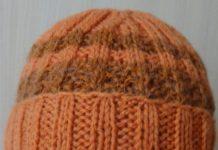 зимняя шапка с отворотом