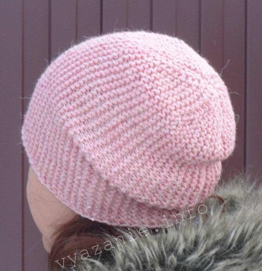 Вязаная зимняя шапка. Вяжем спицами. Пошагово.