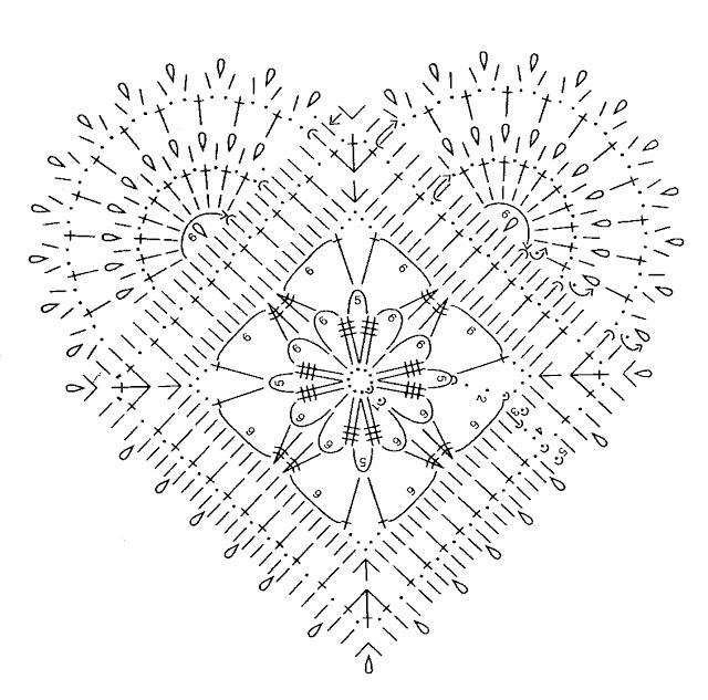 вязаное сердечко крючком