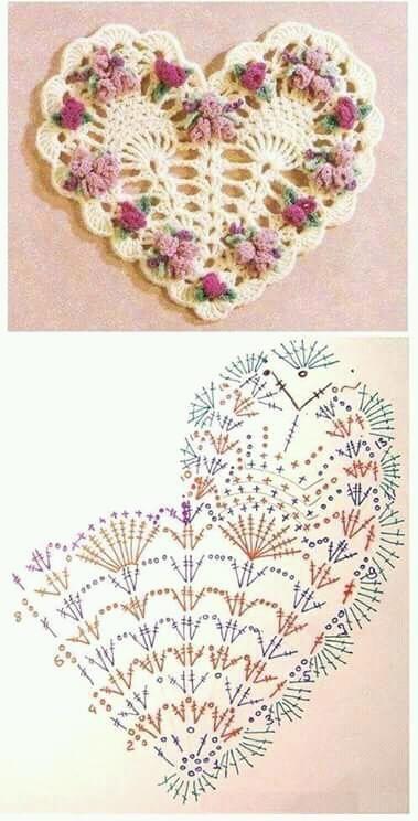 сердечко крючком фото и схема