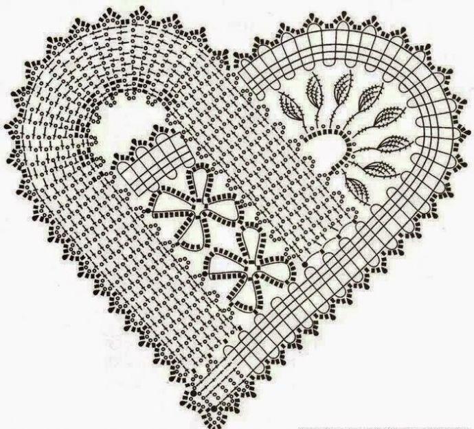 сердечко крючком схема