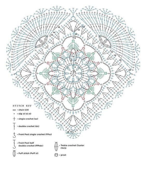сердечки крючком схема