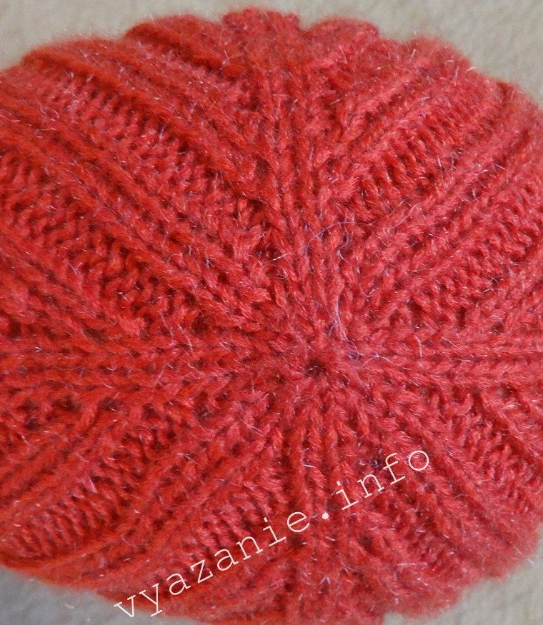 шапка резинкой макушка