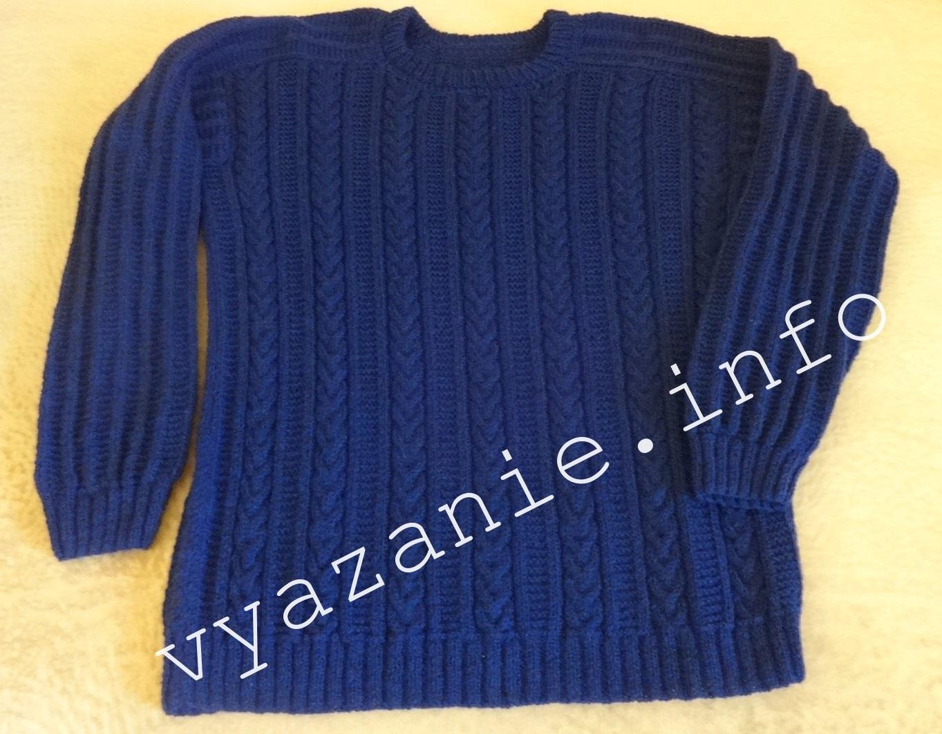 свитер мужской спицами