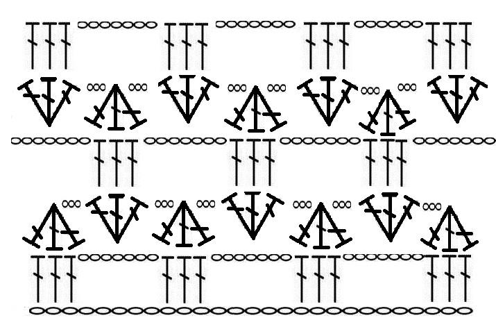 схема узора крючком