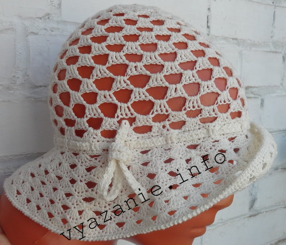 Женская шляпа крючком