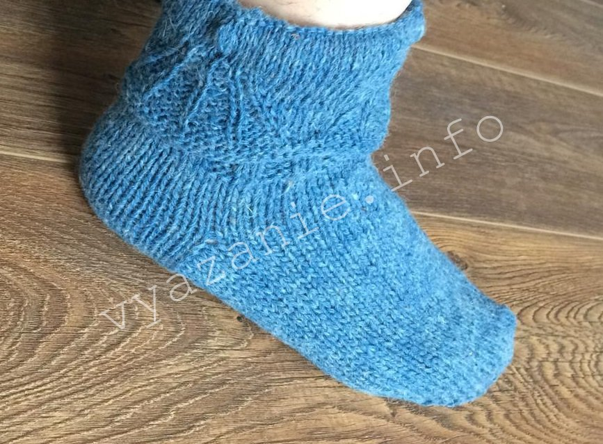 носки с отворотом на ноге фото