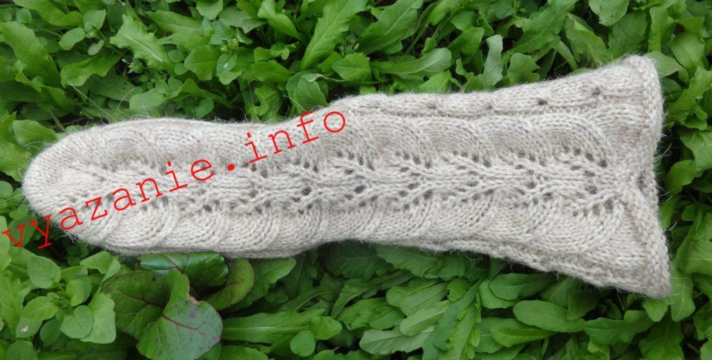 длинные носки с узорами