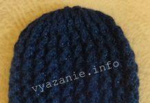 шапка связанная спицами