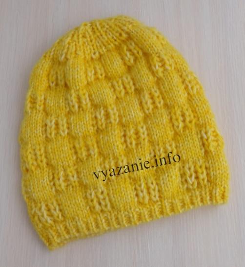 жёлтая шапка бини