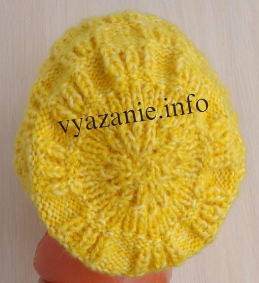 как вязать макушку шапки
