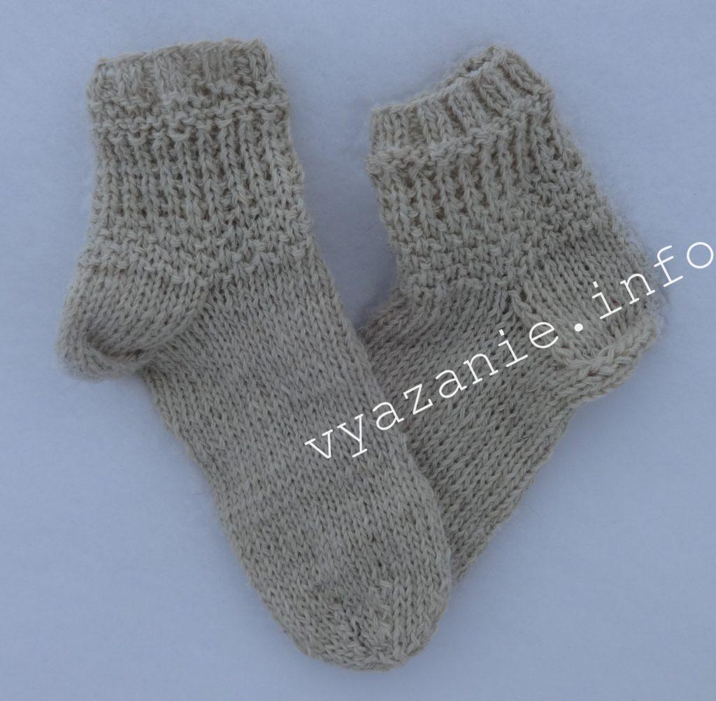 вяжем носки 2 спицами