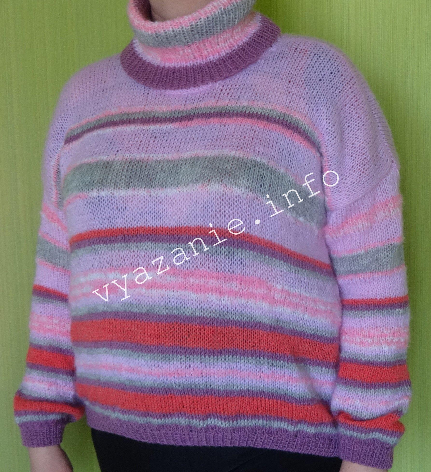 свитер связанный спицами для женщин