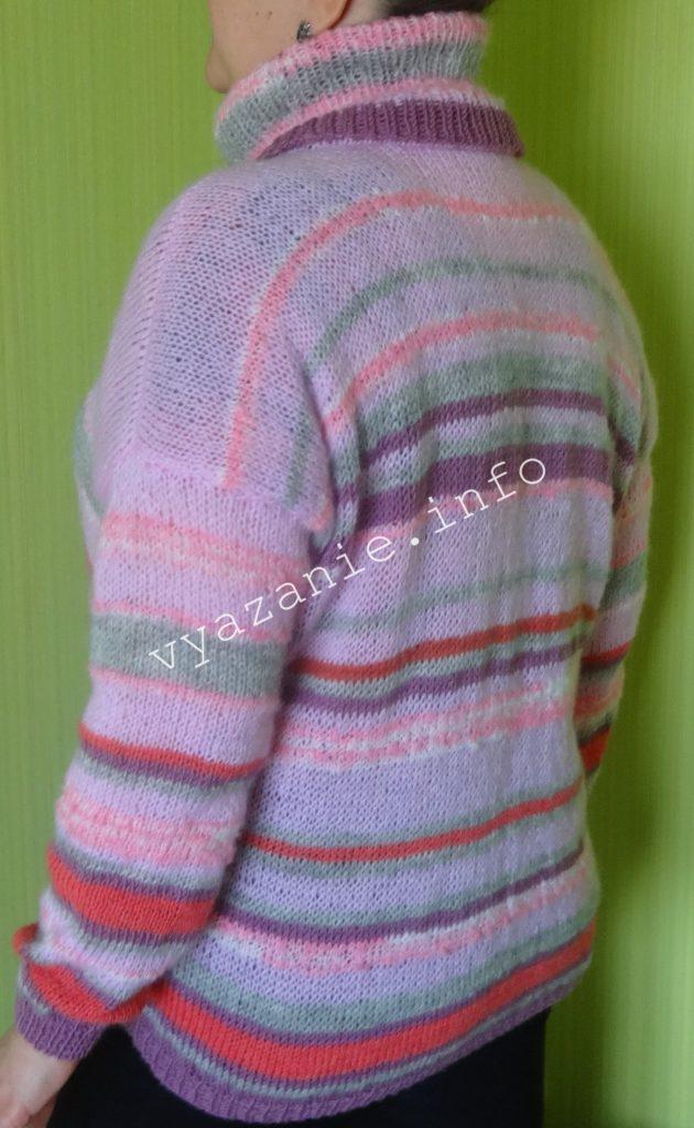 свитер связанный спицами фото