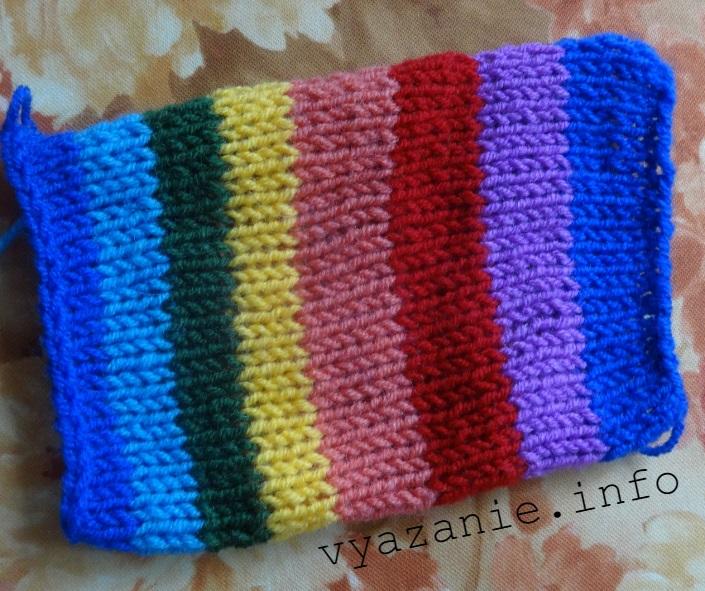 свитер радуга спицами