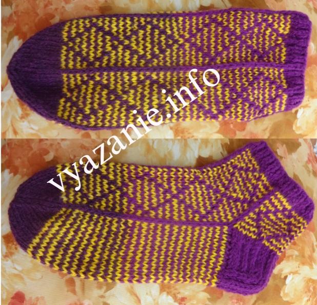 простые красивые носки