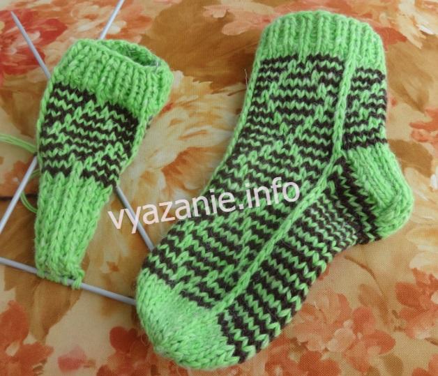 как вязать носки детям
