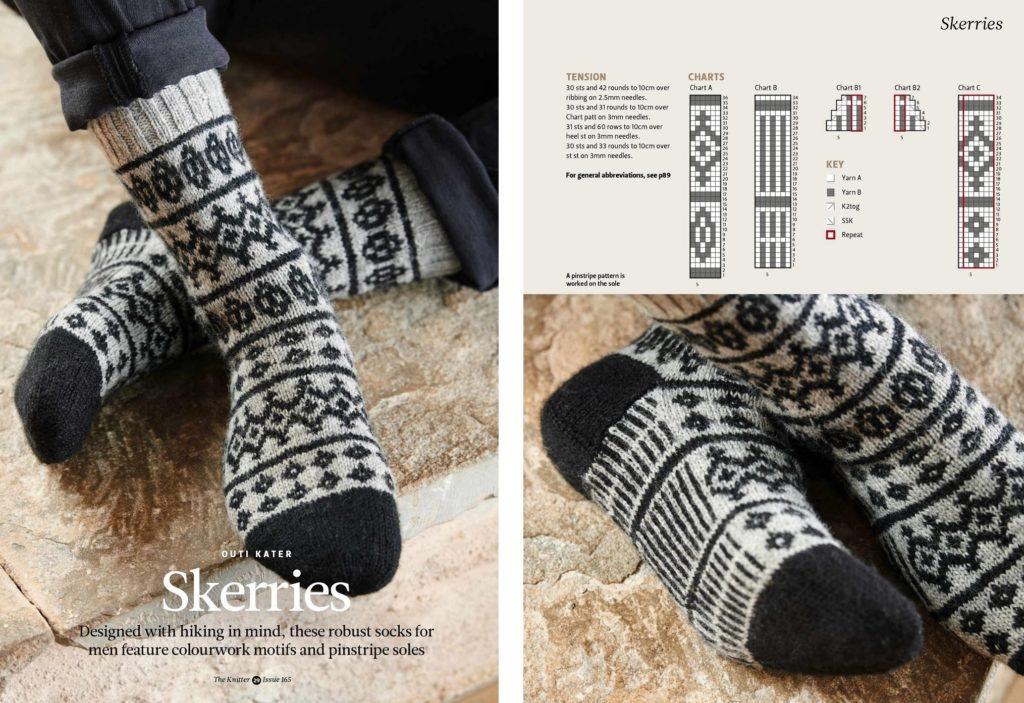 красивые мужские носки схема узора