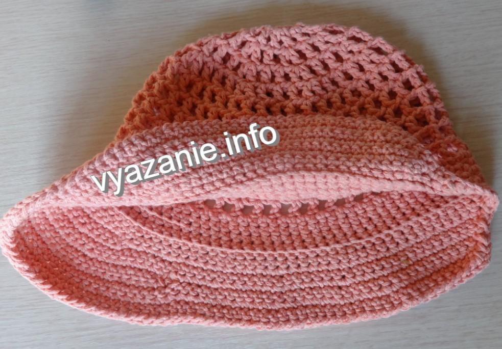 шляпа. лицевая и изнаночная стороны