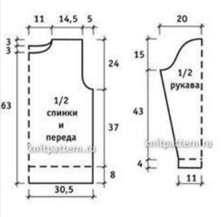 выкройка для мужского джемпера 48 размера