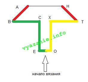 вязаные тапочки следки схема